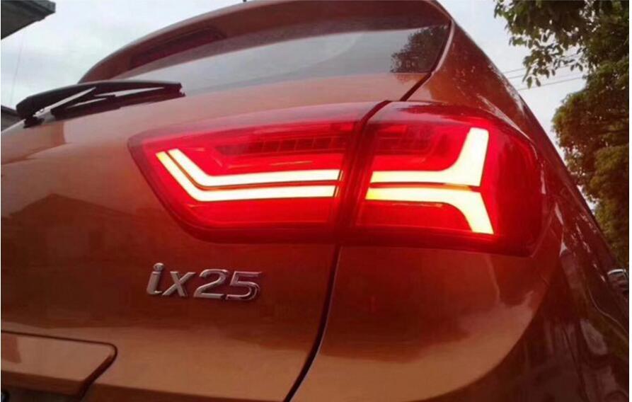 Auto luci di coda per il fanale posteriore Creta IX25 2014 ~ 2016 anno LED IX 25 Luce Della Coda Posteriore Della Lampada DRL + freno + Park + Accensione Della Lampada