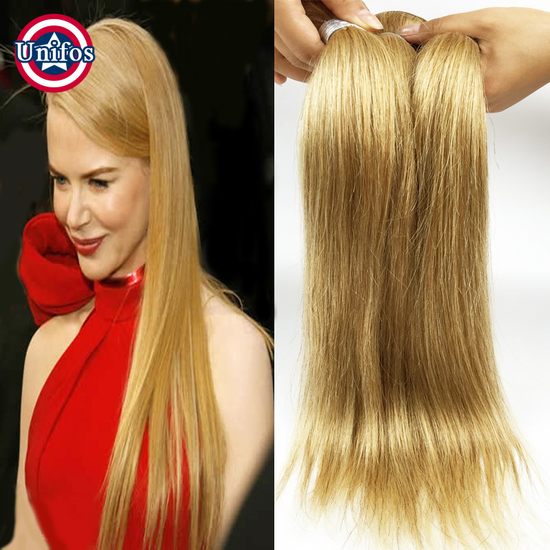 Indian Blonde Hair Straight Best Human Hair Weave Brand 2 Bundles