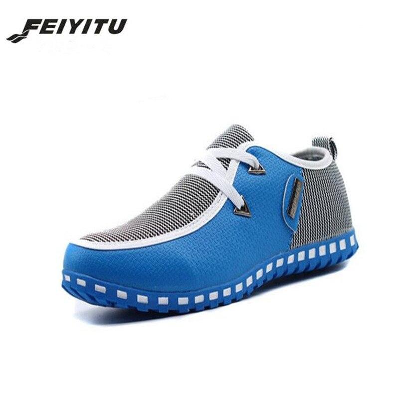 0e0b6f9f73 Beige Otoño Zapatos Calzado 46 Más Nuevo azul 2018 blanco 39 Hombre Feiyitu  Suave Casual Para ...
