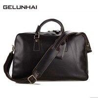 Men S Women S Genuine Leather Travel Bags Handbag Messenger Bag Cross Body Shoulder Bag Crossbody