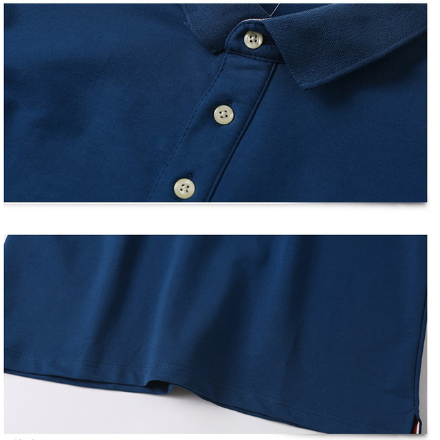 2018 Plus Size 3XL 4XL 5XL Men Big Tall Polo Shirt Long Sleeves Oversized Tees Cotton Male Large Tee Autumn Fit Full Polo Shirt