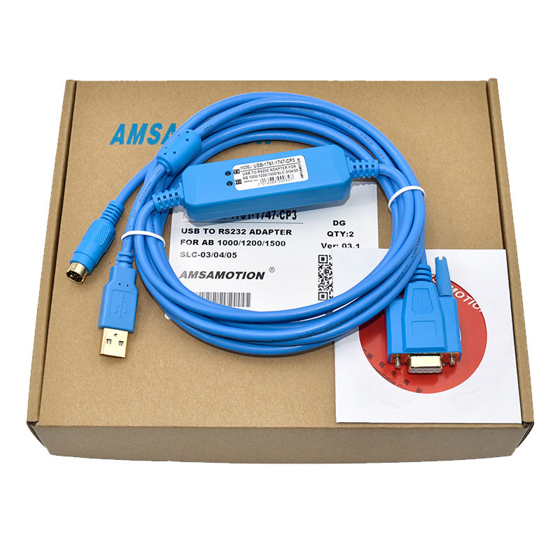 USB-1761-1747-CP3 Plc Programer Cable for  AB  SLC 5/03 5/04 5/05 MicroLogix1000/1200/1500series Support WIN7 1764 mm2 plc memory module micrologix 1500