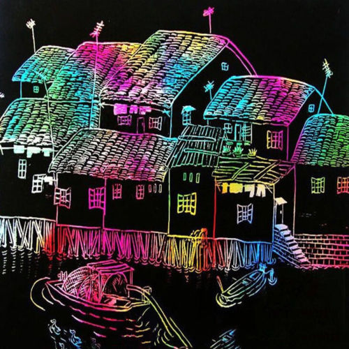 10-Sheets-16K-Colorful-Magic-Scratch-Art-Painting-Paper-With-Drawing-Stick-Gift-2