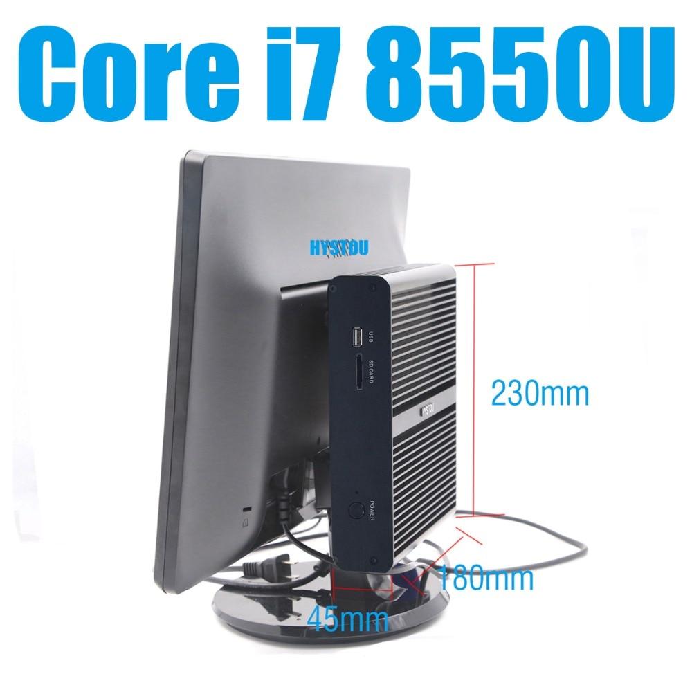 Hystou Core I7 8550u Mini Pc Windows 10 I7 8550u Support Ddr4 Ram Gigabit Lan Minicomputer Linux Ubuntu Minipc I7 Htpc Barebone