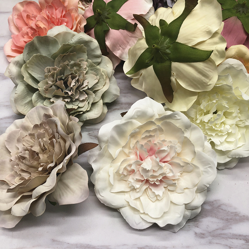 HINDJEF Stamen simulates 5PCS retro europeanstyle silk cloth peony camellia flower garlands for home decoration hats and flowers in Artificial Dried Flowers from Home Garden
