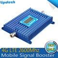 Pantalla Lcd de 1000 cuadrados de cobertura 4G LTE Amplificador de Señal de 70dB de Ganancia 4G LTE de 2600 Mhz amplificador de Señal Del Repetidor