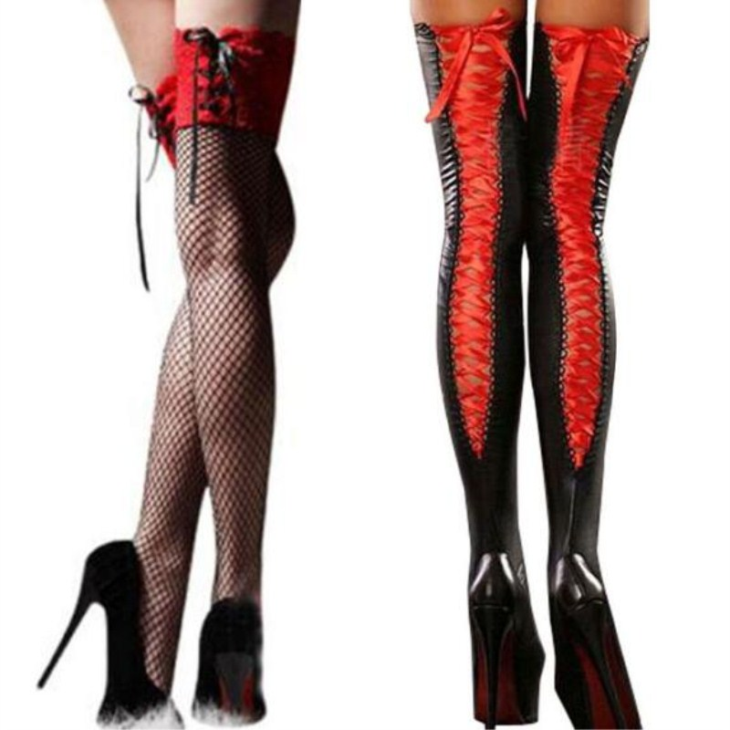 Women's Sexy Fishnet Stocking Thigh High Hot Sheer Lace Top Sexy Stockings Hosiery Nets Stay Up For Women Female Stockings