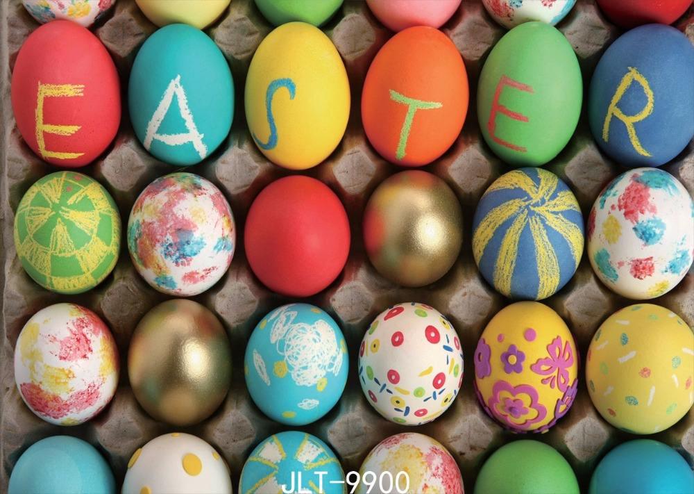 Easter background photography-studio-backdrop fond studio photo vinyle backgrounds for eggs 7x5FT 9900