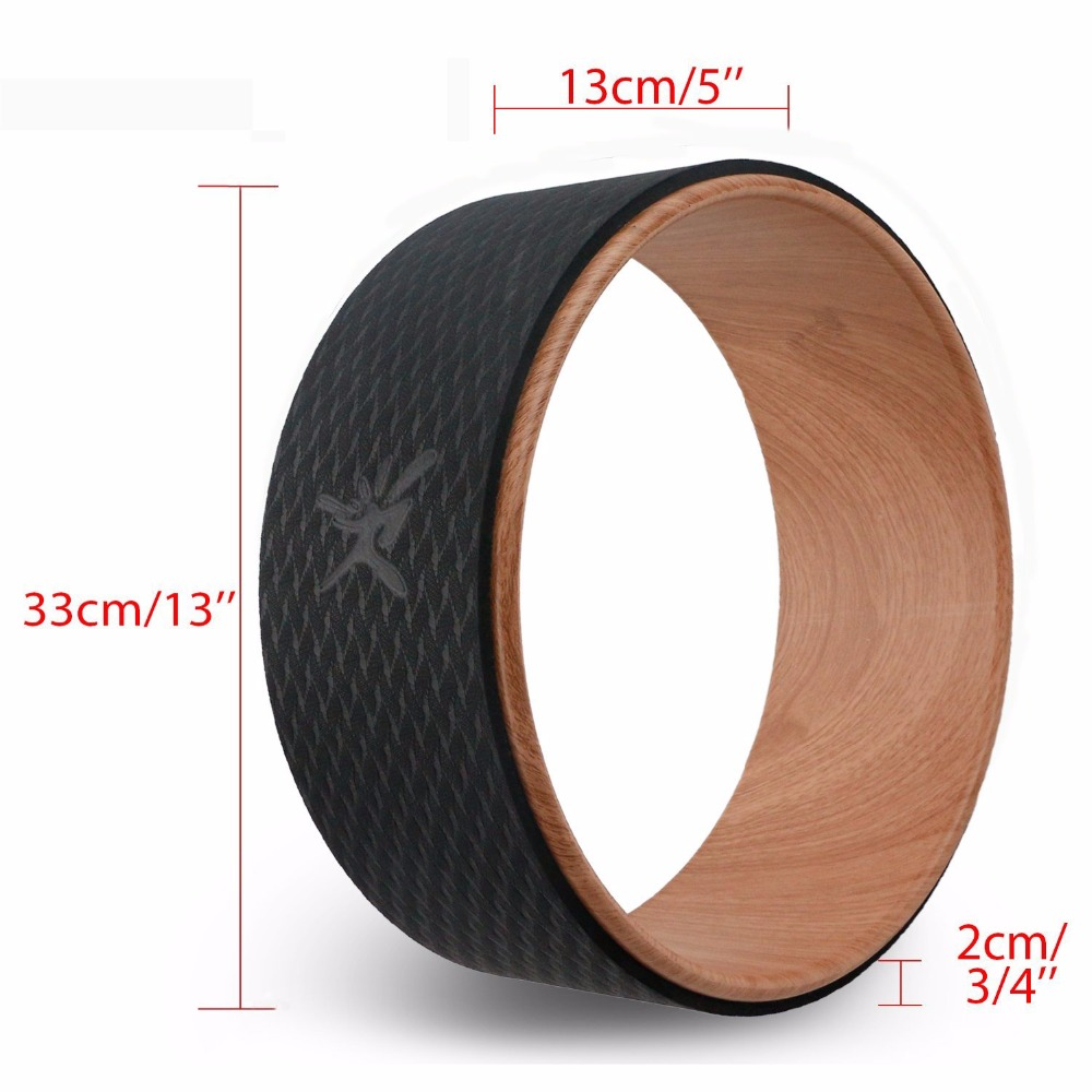 2018 Yoga Wheel Pilates Professional TPE Yoga Circles Gym Workout Back Training Tool For Waist Shape Bodybuilding For Fitness in Yoga Circles from Sports Entertainment