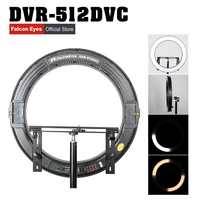 FALCONEYES LED Makeup Lamp Photographic Selfie Ring Light 31W Continuous Lighting For Studio/Movie Youtube Video Live DVR 512DVC