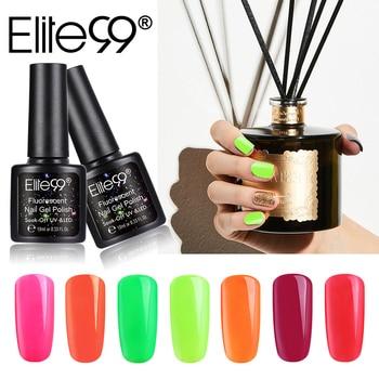 Elite99 10ML Fluorescent & Macaron Gel Polish Nail art Design Maniküre Tränken Weg Von UV-Lack Lack Top Basis Emaille