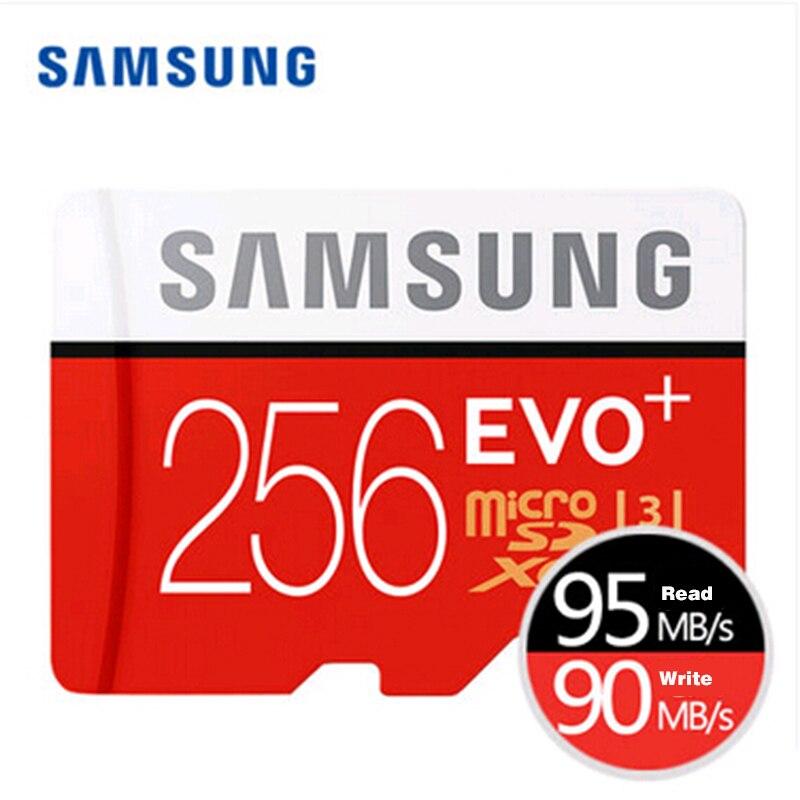 Carte mémoire SAMSUNG micro sd 256 GB EVO Plus Class10 Trans Mikro carte pour téléphone intelligent 256 gb 95 mo/s étanche TF Memoria carte Sim