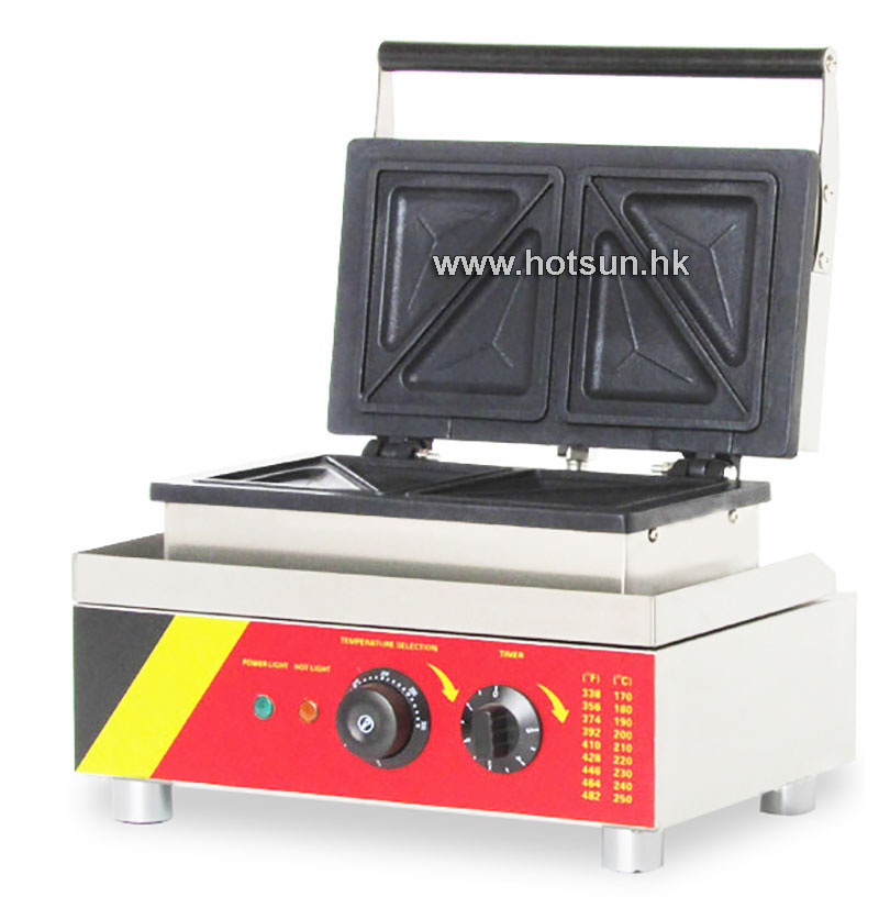 Commercial Non-stick 110V 220V Electric 4pcs Sandwich Press Maker Maker Iron Machine