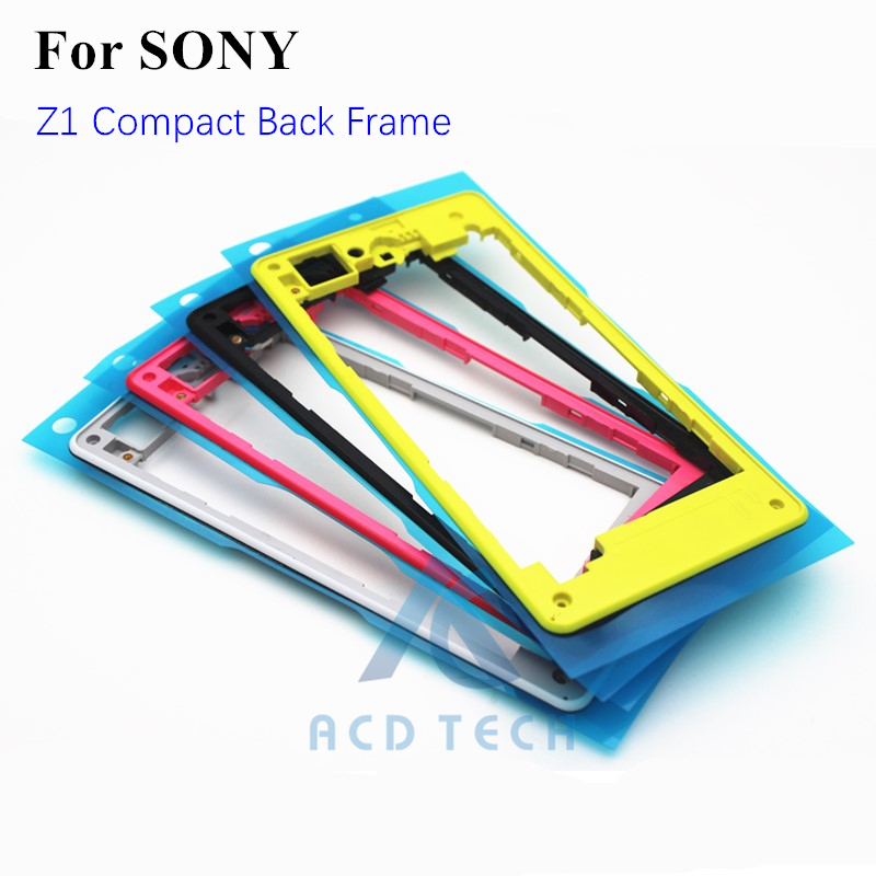 Original New Replacement Housing Plastic Back Middle Frame Back Cover Frame For Sony Xperia Z1 Compact M51W Z1mini