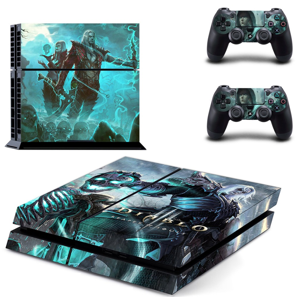 PS4 Full Skin Sticker Faceplates of DIABLO 3 for Sony playstation 4 Console and Controller