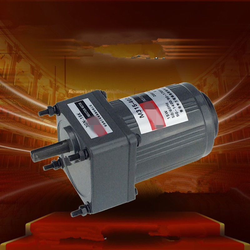 Three-Phase 380V 220V Single Phase 220V AC Vertical Micro Gear Motor Governor 15W M315 Adjustable speed High Torque