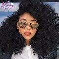 7А необработанные Перуанский девы волос с закрытием 4 связки с закрытие kinky вьющиеся волосы девственные Перуанские вьющиеся волосы человека переплетения