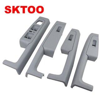 A Set (Gray)For Skoda Superb Inner door handle door armrestswitch box inside the door of the glove package