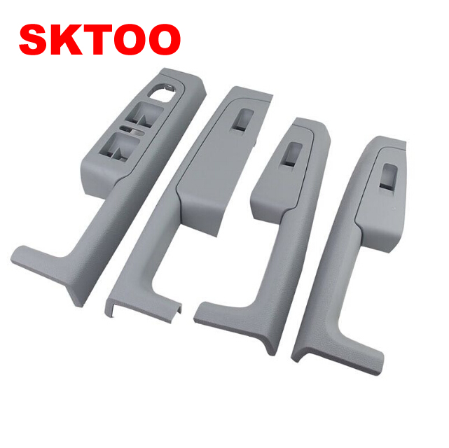 A Set (Gray)For Skoda Superb Inner door handle door armrest, switch box inside the door of the glove package