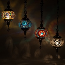 2016 Newest stytle Turkey ethnic customs handmade lamp romantic cafe restaurant bar tree Pendant light bar Pendant lamp
