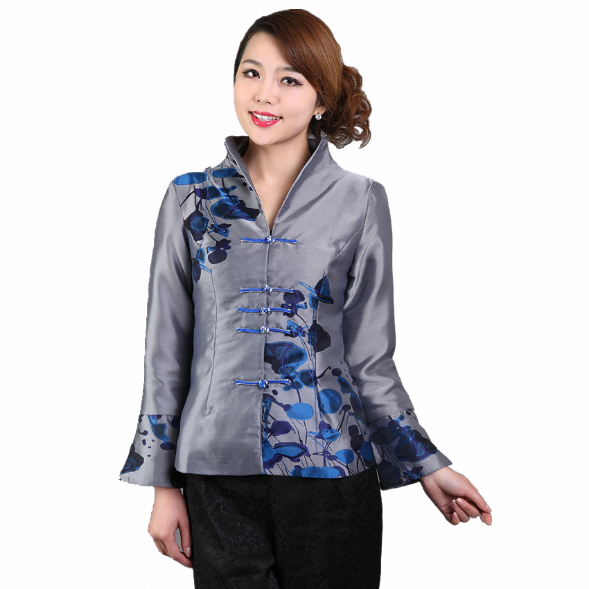 100% True Hottest Chinese Style Lady Silk Satin Overcoat Vintage Mandarin Collar Jacket Single Button Coat Tang Suit Size S To 4xl Basic Jackets Jackets & Coats
