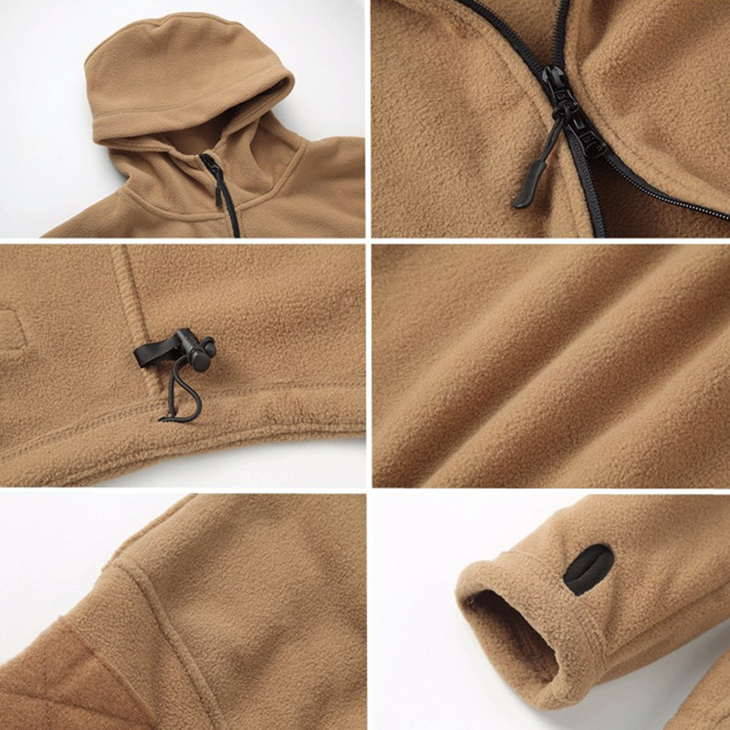 Winter Tactical Jacket Military Uniform Soft Shell Fleece Hoody Jacket Men Thermal Clothing Casual Hoodies