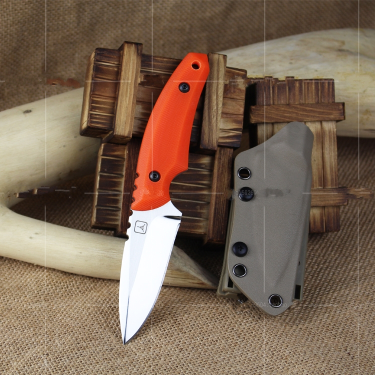 все цены на Tactical straight knife EDC camping survival fixed blade Knives blade:AUS-8A Hunting Creative Man's tools Free shipping