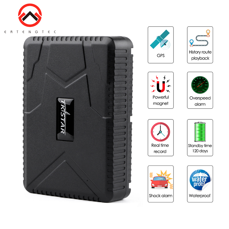 TK915 Car GPS Tracker Standby Time 120 Days 10000 mAh 2G GSM Vehicle GPS Locator Waterproof