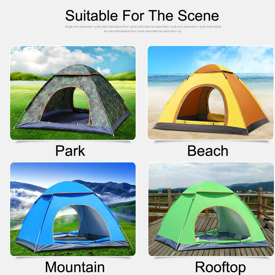 Ultralight Nylon 234 Persons Portable Pop Up Outdoor Camping Beach Tents (17)