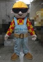 cool glass bob the builder mascot costume hot sale cartoon builder costumes