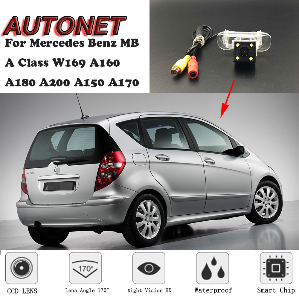 AUTONET Backup Rear View camera For <font><b>Mercedes</b></font> Benz MB A Class <font><b>W169</b></font> A160 A180 A200 A150 <font><b>A170</b></font> /license plate camera/parking Camera image