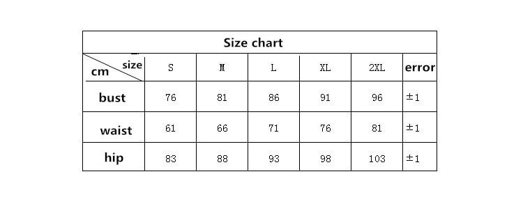 7262 size chart
