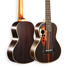 Ukulele 23 inch Hawaiian Mini Guitar 4 Strings Ukelele Rosewood Grape Sound Hole music instrument Electric Ukulele with Pickup