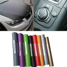 1Pc DIY Car Sticker Matte Pearl Point Auto Exterior Carbon Fiber Custom Automotive Accessories Change Color Film 3sizes 5Colors