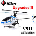 Upgraded Version WLtoys V911 2.4Ghz 4CH Single Blade Propellor Gyro Mini Radio RC Helicopter BNF