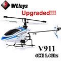 Versão atualizada WLtoys V911 2.4 Ghz 4CH Único Blade Hélice Gyro Mini Radio RC Helicóptero BNF