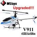 Versión mejorada WLtoys V911 2.4 Ghz 4CH Sola Hélice Hoja Gyro Mini Radio RC Helicóptero BNF