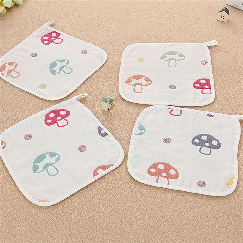 New Six-Layers Baby Bib Hanging Buckle Baby Towel Child Handkerchief Baby Scarf