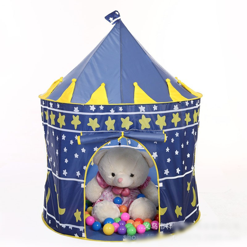 Pink/Blue Kids Tent Baby Play Yard Safe Play House Playpen Indoor Outdoor Play Tent Baby Playpen With 30PCS Ocean Ball Cheap
