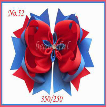 100 pcs Free Shipping Hand BLESSING Good Girl Boutique 8 Inch Romantic party Hair Bows Clip 98 No. Customize Hair Accessories