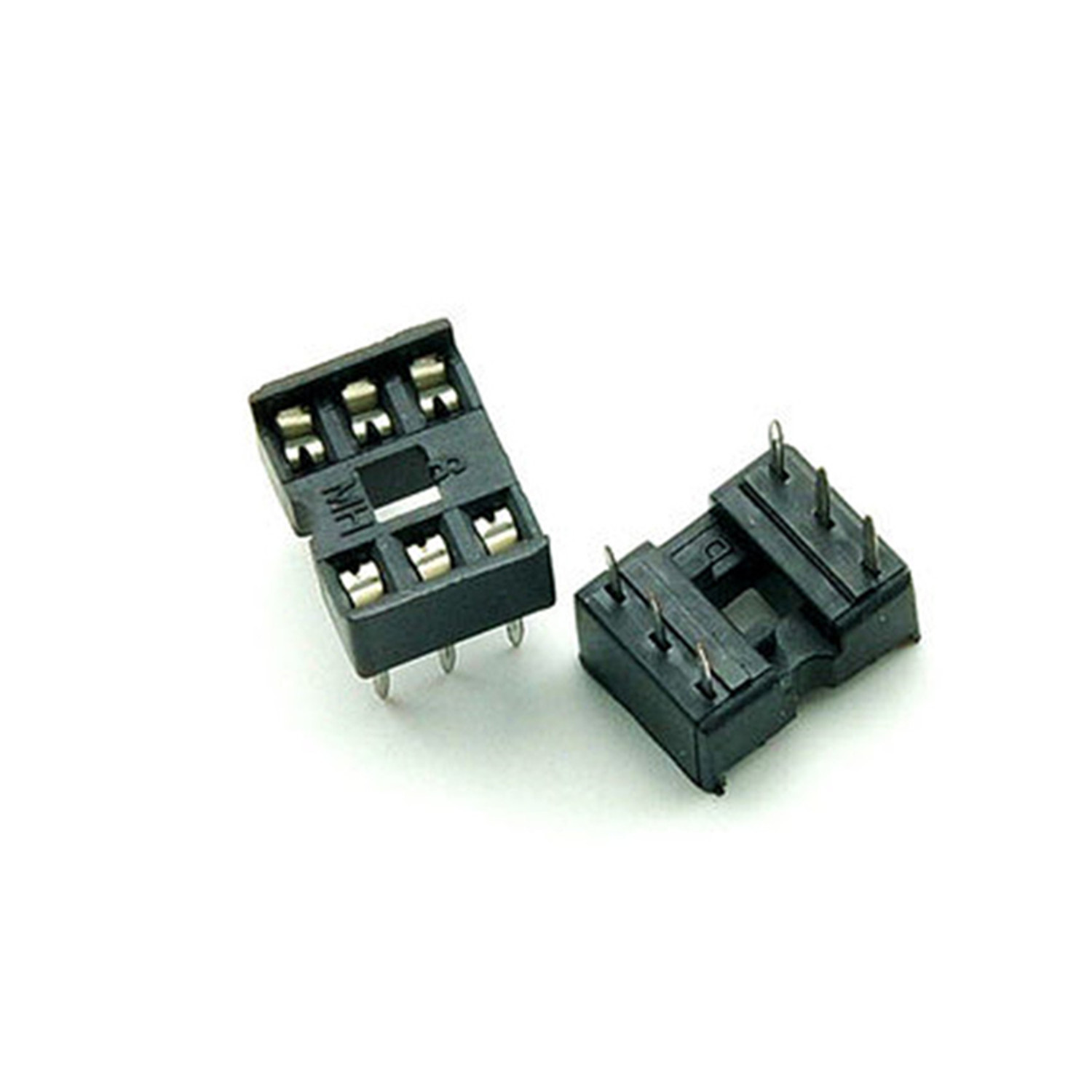 цены на 80PCS/Lot 6 Pin DIP Square Hole IC Sockets Adapter 6Pin Pitch 2.54mm Connector в интернет-магазинах