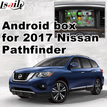Android GPS navigation box video interface for 2017 Nissan Pathfinder with cast screen mirror link