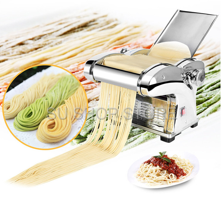 Commercial Electric Noodle Making Pasta Maker Dough Roller Noodle Cutting Machine