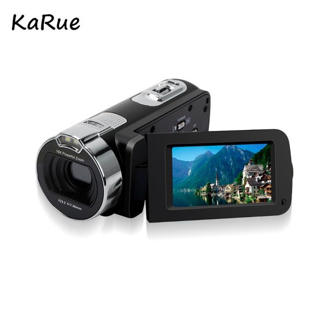 """KaRue HDV-312P Mini 2.7 """"TFT LCD 24MP Máy Ảnh Kỹ Thuật Số HD 720 P Ảnh Video Máy Quay Phim 16X Zoom Anti- lắc DV LED Điền Ánh Sáng DV"""