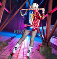 Batman Arkham Cosplay Harley Quinn Costume Jacket Outfits Suicide Squad Full Set Women Halloween Carnival Costume