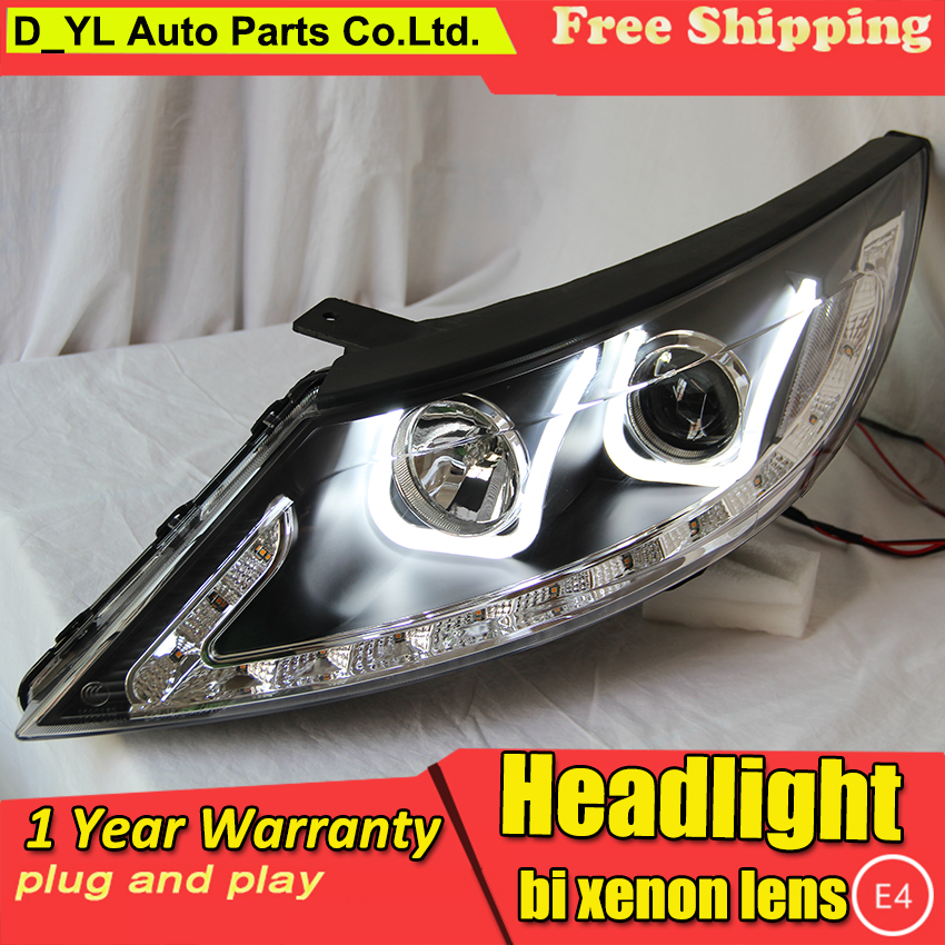 DY L car Styling Head lamp for Kia SportageR U style 2012 2014 LED Headlight DRL