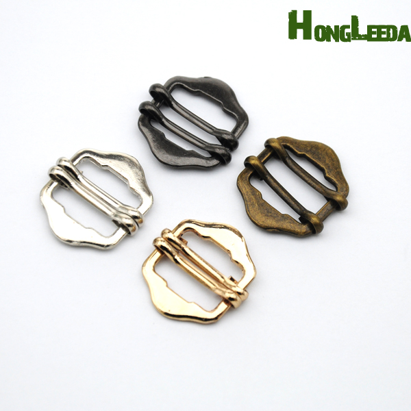 60pcs/lot <font><b>15mm</b></font> metal alloy <font><b>buckle</b></font> double slide adjustable pin <font><b>buckle</b></font> nickle/black/bronze/gold free shipping BK-072 image