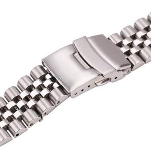 Image 5 - Roestvrij Stalen Horloge Armband Band 20Mm 22Mm 24Mm Vrouwen Mannen Zilver Solid Metal Watch Band Strap Accessoires