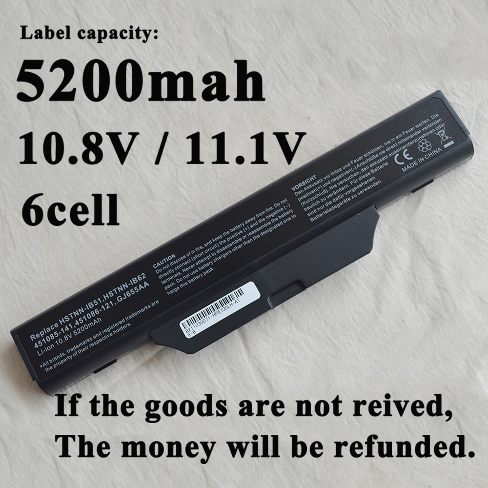 NEW Laptop Battery For <font><b>Hp</b></font> Business Notebook 6720 6720s 6730 6735s 6820 <font><b>6820s</b></font> 6830 6830s 6800 6730S 6735 451086-161 DD08 image