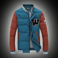 T China Cheap Wholesale 2015 Autumn Winter New Men Fashion Stand Collar Thickening Outerwear Casual Slim